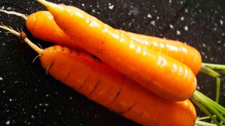 Geoogste wortelen