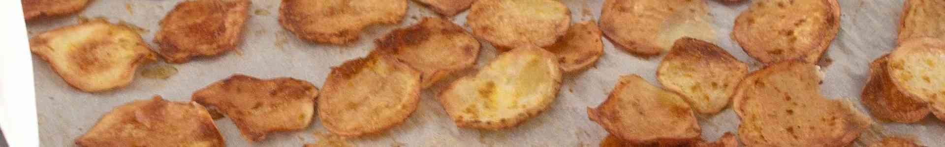 Zelfgemaakte oven-chips, ovenheerlijk!