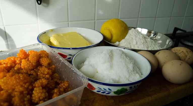 Ingredienten frambozencake